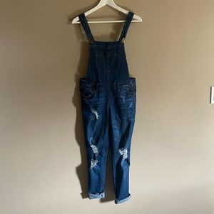 Wax Jeans   Distressed Overalls